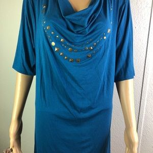 KENNET COLE REACTION blue tunic L